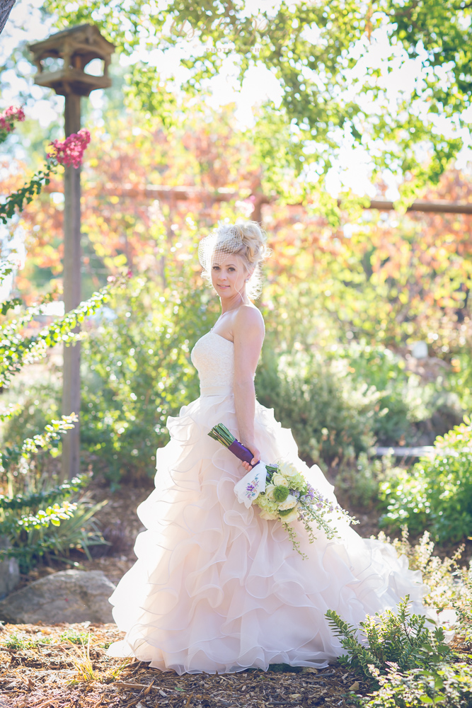 Whimsical wildflowers and a beautiful bride at The Gardens.
