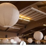Lights & lanterns make parties in the Camellia Room shine.