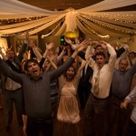 Dancing fun for weddings and parties in the Camellia Room at The Gardens at Heather Farm.