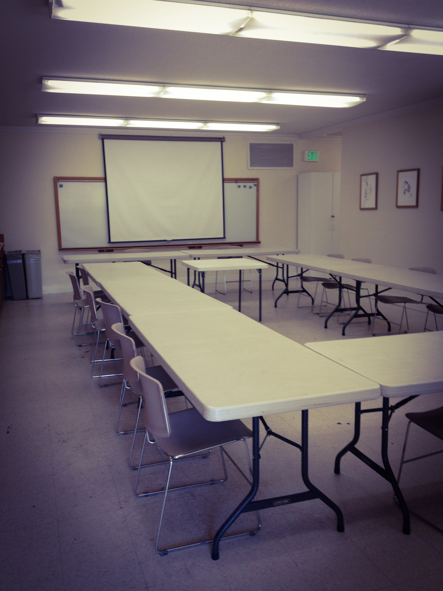 The Rotary Room can hold up to 30 people in a classroom setting.