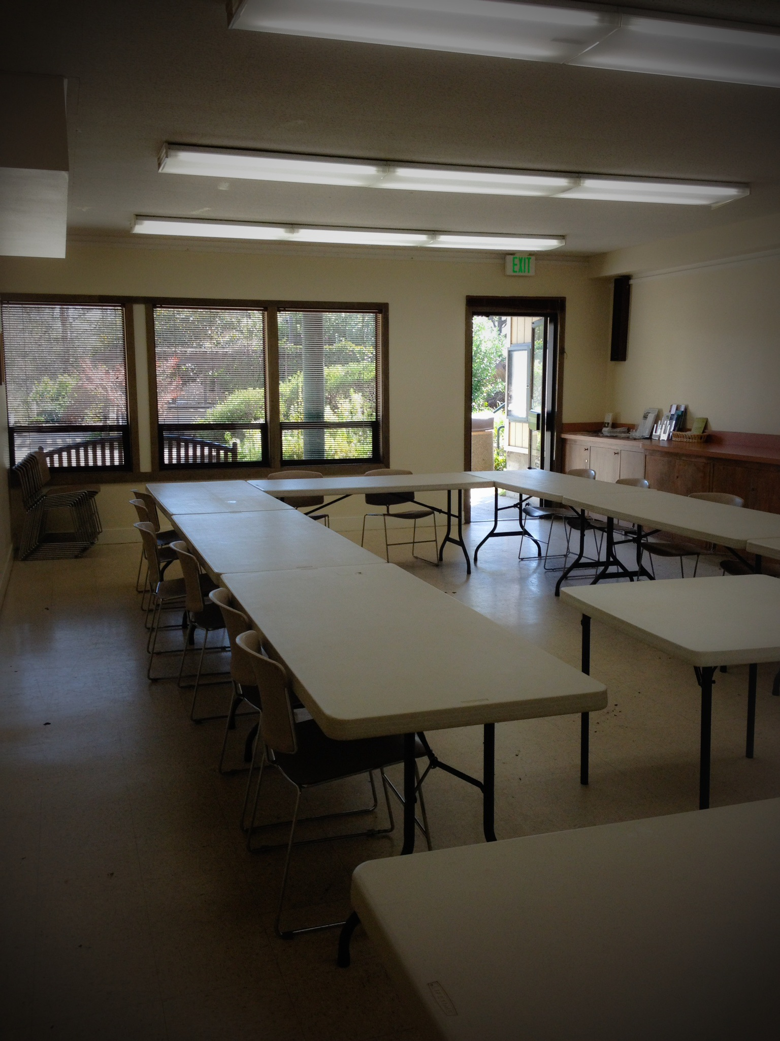 The Rotary Room is often used for small business meetings, training workshops and staff retreats.