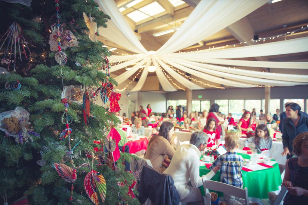 Families enjoy tea time treats and festive fun at the annual Teddy Bear Tea fundraiser.