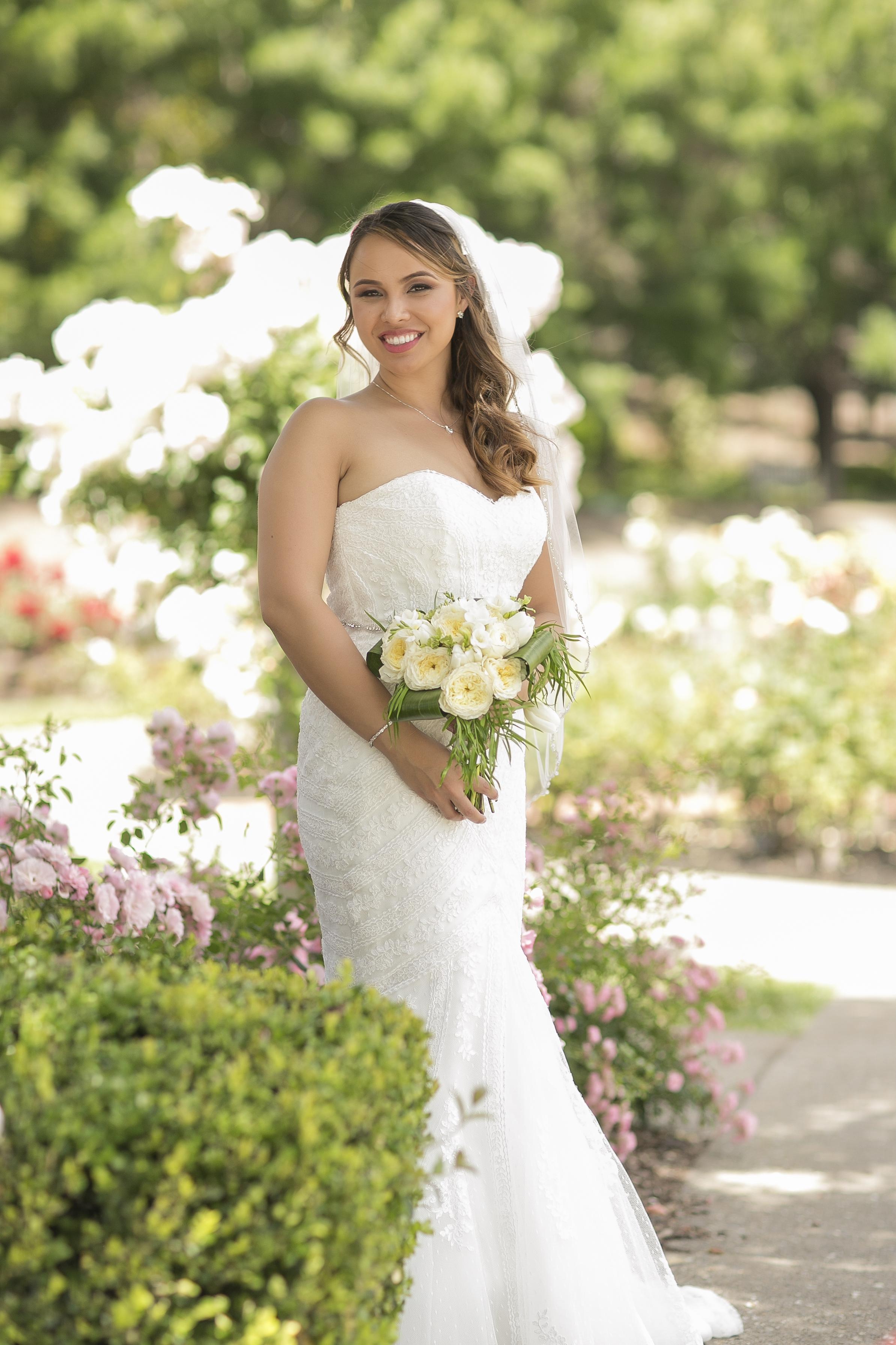 wedding, bride, garden, bouquet