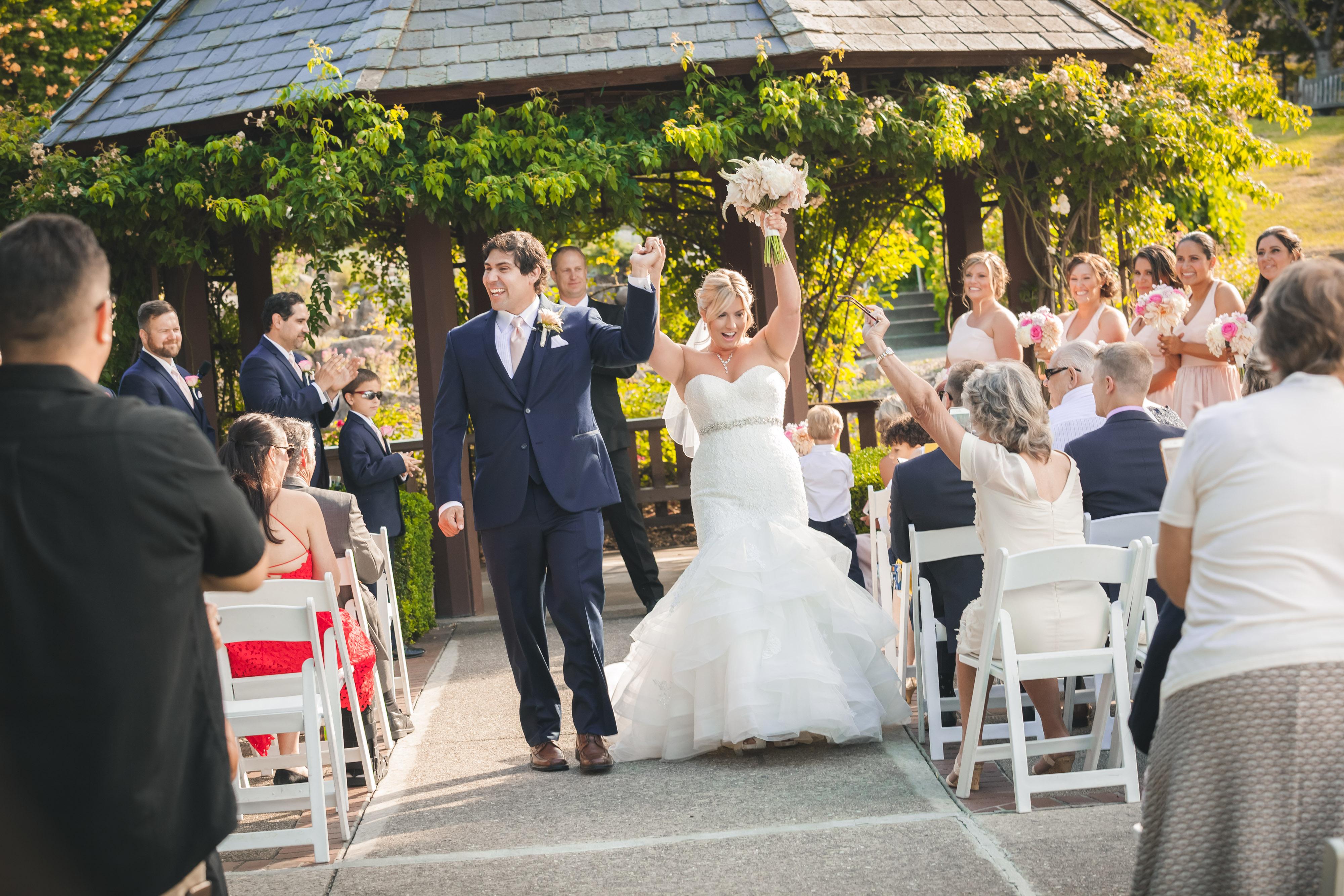 wedding, couple, bride, groom, garden, venue, ceremony