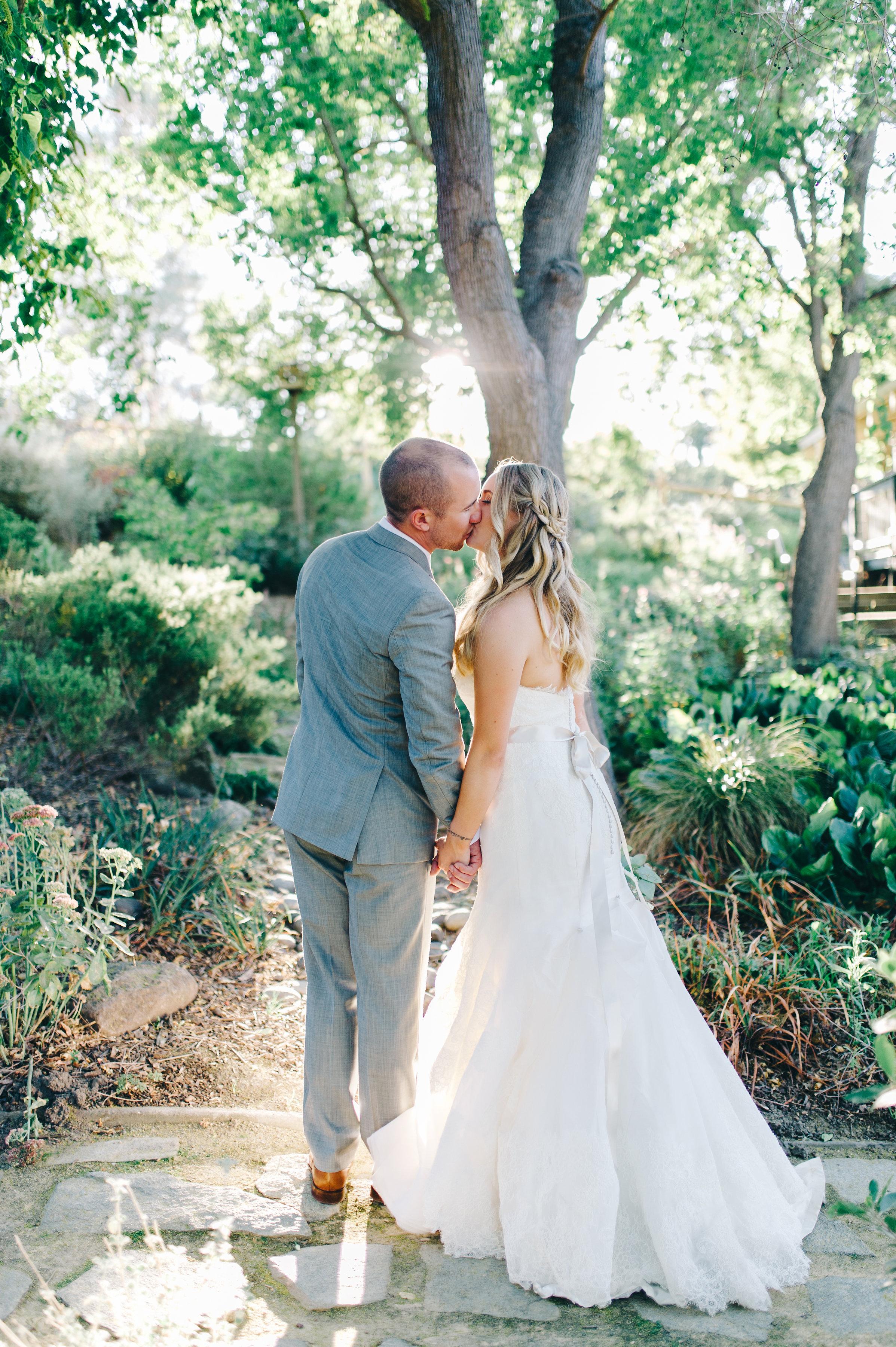 wedding, couple, bride, groom, garden, venue